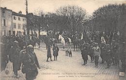 MOSELLE  57  CHATEAU SALINS  LE DRAPEAU DU 1° REGIMENT DE LA LEGION ETRANGERE PENDANT LE DEFILE, LE 17 NOVEMBRE 1918 - Chateau Salins