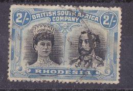 RHODESIA 1910 DOUBLE HEAD 2s  USED - Sonstige