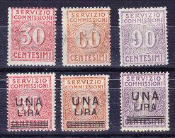 Italien 1913/25 Verrechnungsmarken Mi.#6 Bis 11 Meist ** - Italien