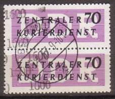 DDR , Dienstmarke B , 1957  , Mi.Nr. 13 O / Used Senkrechtes Paar - [6] Repubblica Democratica