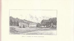 1890 - Gravure Sur Bois - Arlay - Château Du Prince D'Arenberg - Jura - FRANCO DE PORT - Estampes & Gravures