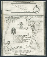 WW2 GB Illustrated Airgraph Christmas Greetings British Forces North Africa - 1939-45