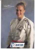 Foto/ Autogramm von Heidi RAKELS, Belgien, Bronzemedaille Judo in Barcelona 1992