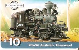 TARJETA DE AUSTRALIA DE UN TREN $10 (TRAIN-ZUG) LOCOMOTORA (PAYTEL) - Australia