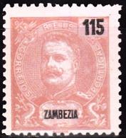 ZAMBÉZIA -1903, D.Carlos I. Novas Cores E Valores.  115 R.   D. 11 1/2    * MH  Afinsa Nº 51 - Zambezia