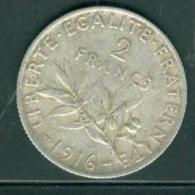 france  2 Francs 1916 - Semeuse - Argent tb. pia9105