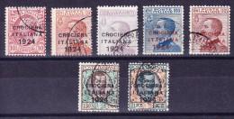 Italien 1924 Crociera Italiana Mi.#194-200 - 1L U 2L Signiert Diena - 1900-44 Victor Emmanuel III.