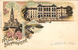 [DC5022] CARTOLINA - SVIZZERA - SCHAFFHAUSEN - GRUSS AUS - Viaggiata 1899 - Old Postcard - SH Schaffhouse