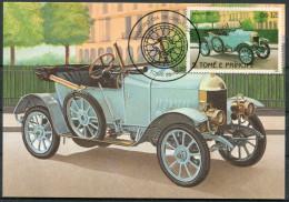 1983 S. Tome E Principe Car Automobile Maxicard MORRIS (1913) - Cars