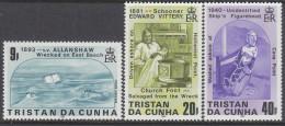 TRISTAN DA CUNHA, 1986 SHIPWRECKS 3 MNH - Tristan Da Cunha