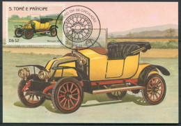 1983 S. Tome E Principe Car Automobile Maxicard RENAULT (1912) - Cars