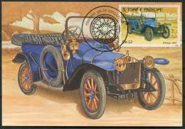 1983 S. Tome E Principe Car Automobile Maxicard DELAGE (1910) - Cars