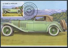 1983 S. Tome E Principe Car Automobile Maxicard MERCEDES CABRIOLET (1924) - Cars