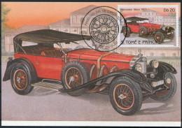 1983 S. Tome E Principe Car Automobile Maxicard MERCEDES BENZ (1927) - Cars