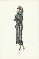 """Superbe Gravure De Mode - Fourrure Canadienne-Epoque : Années 20-30 - Modèle """" Sabam """" ( 17 ) - Oude Documenten"""