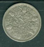 Great Britan 6 Pence 1930 Silver - Pia9202 - H. 6 Pence