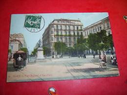 Alger   Place  Bugeaud  Et Rue  D Isly - Algiers