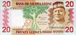 Siera Leone 20 Leone 1984 Pick 14b UNC - Sierra Leone