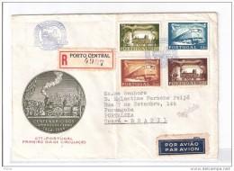 Portugal, 1956, # 821/4,  FDC Cent. Dos Caminhos De Ferro - FDC