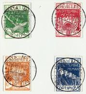 Fiume Festtagausgabe 12.9.1920 Durch Die Militärverwaltung Faltkarte Mit Satz 1-4 Zentrisch ET-Stempel RRR - 8. Besetzung 1. WK