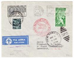 Mischfrankatur Vatican 4.5.1936 Und Italien Roma, Zeppelin-Brief Nach Lakehurst - Luftpost