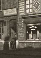 CPA SECLIN - Rue De Burgault - Cafe De La Poste Et Coiffeur Delevallee - Carte Photo Guerre - Seclin