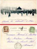 Lons Le Saunier - Le Patinage Au Parc ( édit. R. Chapuis, Tampon & Timbre Taxe, Lunel-Viel ) - Lons Le Saunier