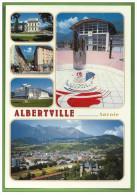 Carte Postale CP Voyagée Sport Hiver Ski Jeux Olympiques JO 1992 ETIQUETTE MACHINE Cachet 24.X.97 ALBERTVILLE Conflans - Sports D'hiver