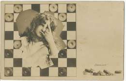 Echecs Jeu De Dames Chess Checkers Surrealisme Uberlegen - Chess