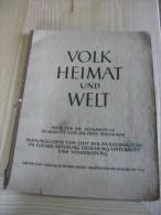 Atlas  28 Pages En Allemand Années 1940  Volk Heimat Und Welt Couverure : Traces D âge Interieur O.K. - Mappemondes