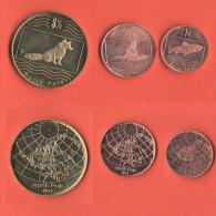 Polo Nord North Pole 3  Monete Di Fantasia Con Animali - Altre Monete
