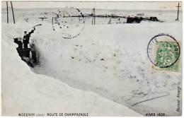 Nozeroy - Route De Champagnole - Hiver 1907 (traineau, édit. Martelet ) - Autres Communes