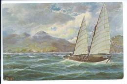 CP Cochinchine Voilier De Pêche Texte En Allemand 2 Scans TB - Old Paper