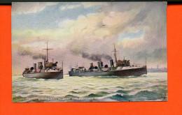 "Bateau - TORPEDO BOAT - Destroyers ""PETEREL"" And BULLFINCH - Raphael Tuck& Sons ""Oilette"" N°9082 - Guerre"