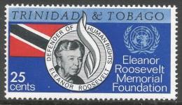 Trinidad & Tobago. 1965 Eleanor Roosvelt Memorial Foundation. 25c MNH. SG 312 - Trinidad & Tobago (1962-...)