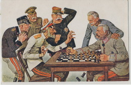 Echecs Chess Satirical Russian Tsar Against German Kaiser French Italian Spanish - Chess
