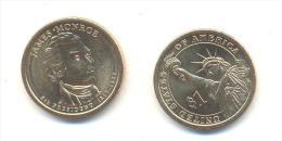 STATI UNITI-USA  1 $ JAMES MONROE ANNO 2008 (PHILADELPHIA) - Federal Issues