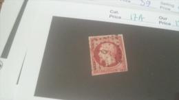 LOT 235088 TIMBRE DE FRANCE OBLITERE N�17A VALEUR 120 EUROS