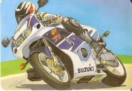 CALENDARIO DEL AÑO 1999 DE UNA MOTO SUZUKI (CALENDRIER-CALENDAR) MOTO-MOTORBIKE - Tamaño Pequeño : 1991-00