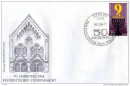 DDR - 8 11 1988 FDC 50. JAHRESTAG DER REICHSKRISTALL-NACHT - Non Classificati
