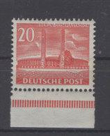 Berlin Michel No. 123 ** postfrisch / 1 Zahn braun