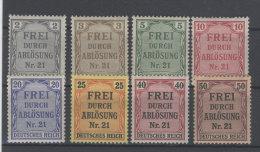 Deutsches Reich Dienst Michel No. 1 - 8 * ungebraucht