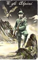 Carte Photo - Guerre 14-18 - WW1 - W Gli Alpini  Uniforme Soldat Militaire - Régiments