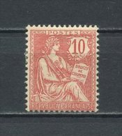 FRANCE 1902 N° 124 * Neuf = MH  TTB Cote 50 € + Type Mouchon Retouché - Unused Stamps