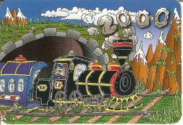 CALENDARIO DEL AÑO 2000 DE UN TREN  (CALENDRIER-CALENDAR) TRAIN-ZUG-TREN - Calendarios