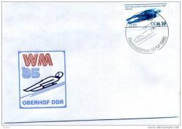 DDR - 22 1 1985 FDC CAMPIONATI MODIALI SLITTINO AD OBERHOF (DDR) - Inverno
