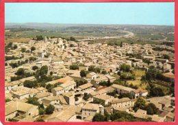 CPM 30 GALLARGUES LE MONTUEUX En Avion Au Dessus Du Village ( Vue Aérienne  Dans Le Fond L' Autoroute Du Languedoc - Gallargues-le-Montueux