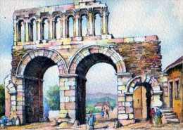 71  AUTUN Porte Romaine Dite D'Arroux, Illustrateur Barday - Autun