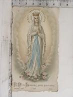 Image Religieuse - Bouasse 1579 - N.D. De Lourdes, Priez Pour Nous - Devotion Images