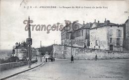 (16) Angouléme - Le Rempart Du Midi Et L'entrée Du Jardin Vert -Trés Bon état - 2 SCANS - Angouleme